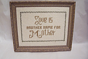 Needlecraft Tribute To Mother