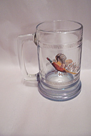 Ringneck Pheasant Crystal Glass Beer Mug
