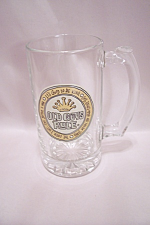 Old Guys Rule Crystal Glass Beer Mug