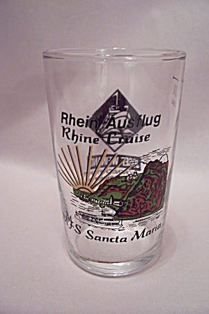 Rhine River Cruise Souvenir Cordial & Sherry Glass