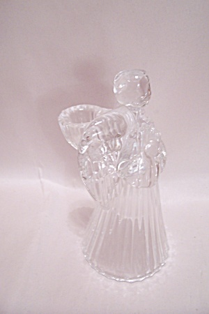 Crystal Glass Angel Candle Holder