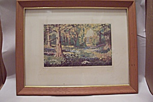 A French Garden Art Print By Dwight David Eisenhower