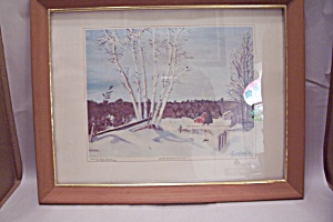 Winter Birches Art Print By Dwight David Eisenhower