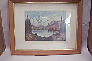 Mountain Lake Art Print By Dwight David Eisenhower