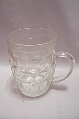 Thumbprint Pattern Crystal Glass Beer Mug