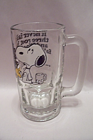 Snoopy Root Beer (Or Beer) Crystal Glass Mug