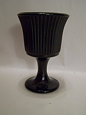 Black Glass Small Goblet Or Wine Glass