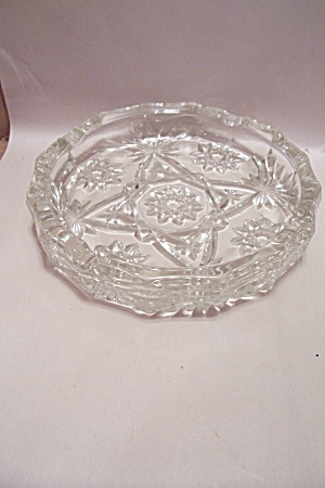 Anchor Hocking/fire King Eapc Crystal Glass Ash Tray