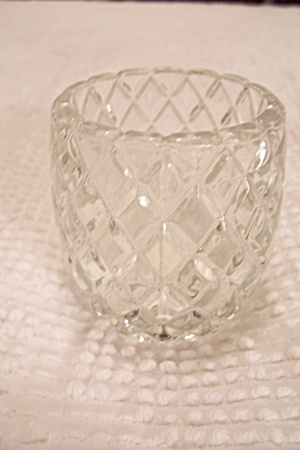 Crystal Glass Diamond Pattern Toothpick Holder