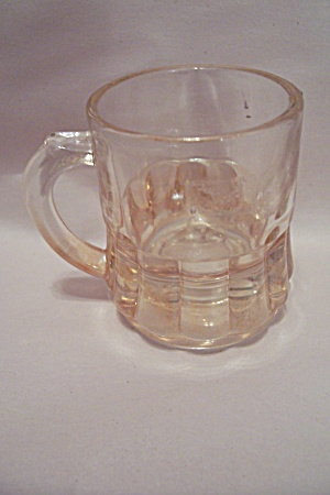 Federal Glass Mug Shaped Toothpick Holder