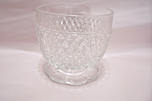 Crystal Glass Footed Bowl