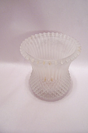Victorian Era Satin Glass Candle Holder