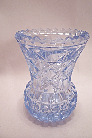 Star Of David Light Blue Glass Toothpick Holder