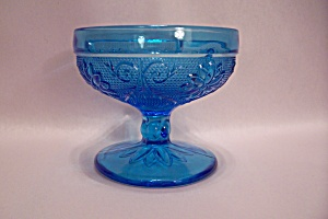 Blue Depression Glass Footed Sherbet