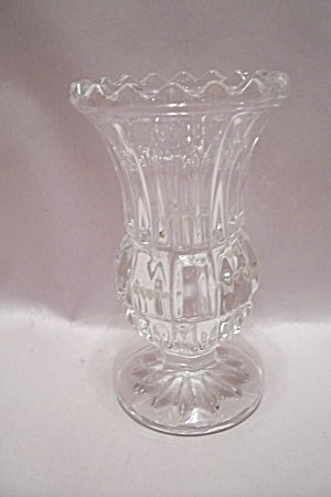 Crystal Glass Pedestal Toothpick Holder
