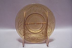 Amber Depression Glass Bread & Butter Plate