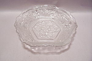 Crystal Depression Glass 6-sided Bowl