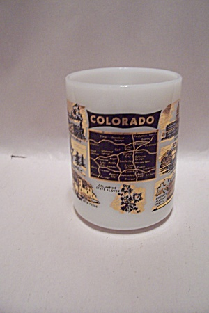 Colorado Souvenir Milk Glass Mug