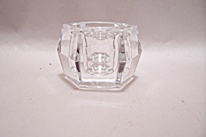 Crystal Glass 6-sided Candle Holder