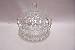 Crystal Diamond Pattern Lidded Candy Dish
