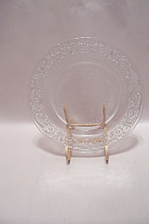 Crystal Epression Glass Salad Plate