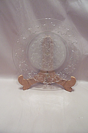 Crystal And Satin Glass Dinner Plate
