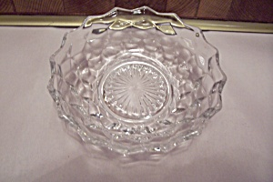 Fostoria American Pattern Crystal Glass Shallow Bowl