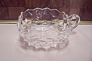 Fostoria American Pattern Crystal Glass Square Nappy