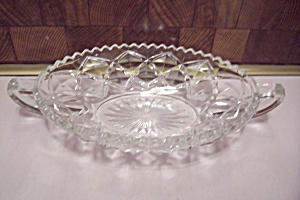 Fostoria American Pattern Crystal Glass Small Boat
