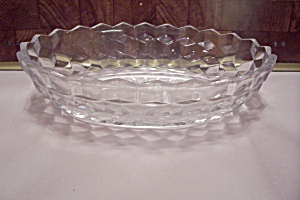 Fostoria American Pattern Glass Oval Vegetable Bowl