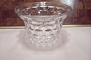 Fostoria American Pattern Crystal Glass Flared Vase