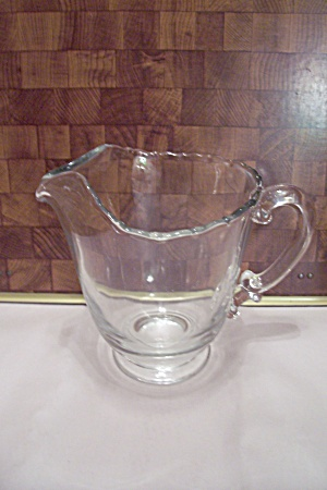 Fostoria Contour Pattern Crystalo Glass Footed Pitcher