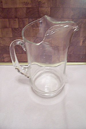 Fostoria Contour Pattern Crystal Glass Footed Pitcher