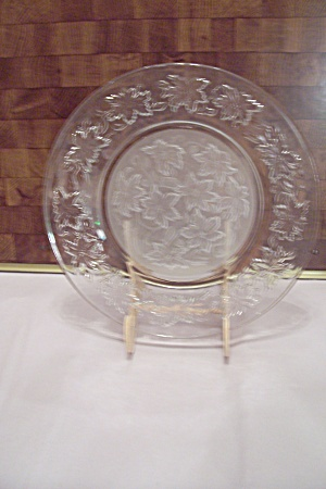 Crystal & Satin Glass Holly Pattern Dinner Plate