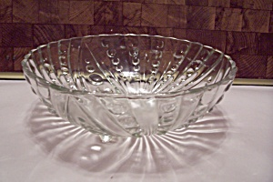 Crystal Teardrop Pattern Glass 3-toed Salad Bowl