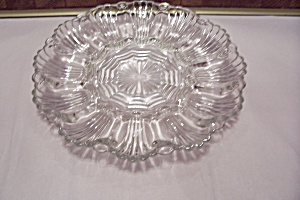 Crystal Pattern Glass Egg Plate