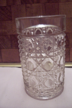 Crystal Button & Bar Pattern Glass Tumbler