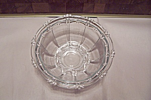 Crystal Glass Beaded Pattern Bowl