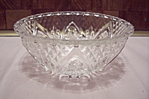 Crystal Pattern Glass Footed Candy Dish