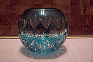 Blue To Clear Glass Bubble Vase