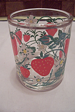 Crystal Glass Strawberry Decorated Toothpick Holder