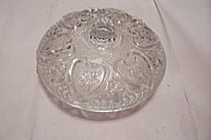 Crystal Glass Heart Pattern Lidded Candy Dish