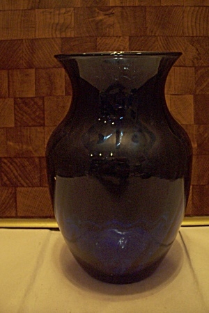 Indiana Hand Blown Cobalt Blue Art Glass Vase