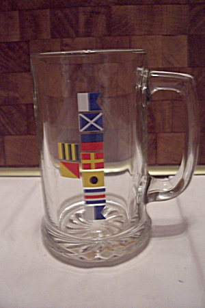Crystal Glass European Flags Beer Mug