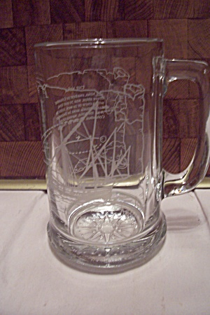 "Crystal Glass ""nina"" Sailing Ship Beer Mug"