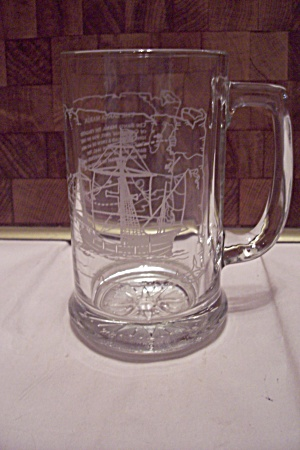 Crystal Glass Santa Maria Sailing Ship Beer Mug