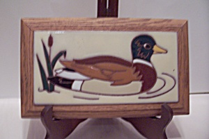 Hand Painted Mallard Duck On Ceramic Tile
