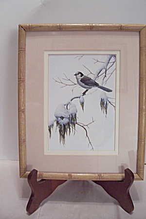Luke Ruffin's Bird In Wintertime Art Print