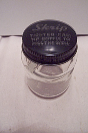 Skrip Clear Glass Ink Bottle With Cap