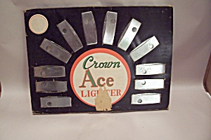 Crown Ace Lighter Counter Sales Display With Lighters